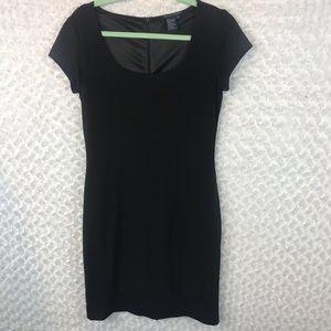 Boston Proper Black Cap Sleeve Sheath Dress NWOT